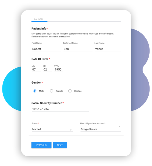 Online Form with cloud